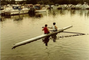 First coxless pair 1981